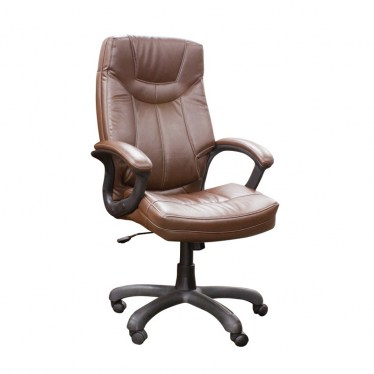 Saddle Executive High Back Faux Leather Chair by Space Seating