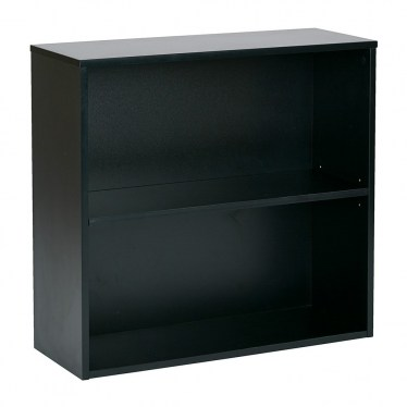 2-Shelf Black Bookcase By Space Seating