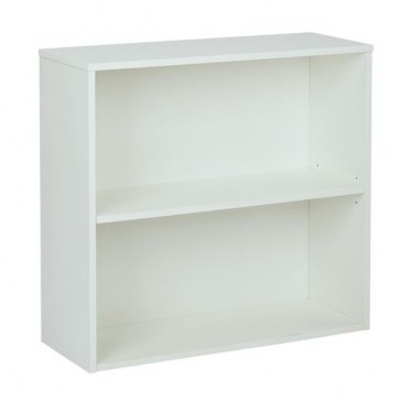 2-Shelf White Bookcase By Space Seating