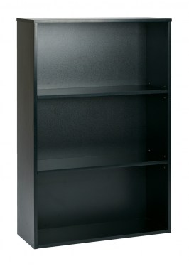 3-Shelf Black Bookcase By Space Seating