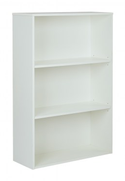 3-Shelf White Bookcase By Space Seating