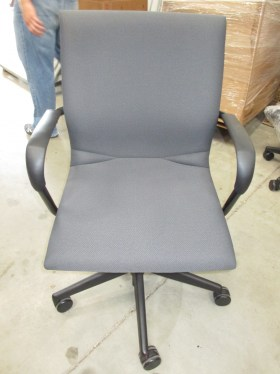 Protege By Steelcase Gray Fabric Conference Chair