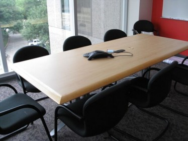 8' Versteel Blonde Wooden Laminate Conference Table