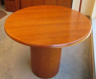 42″ Medium Cherry Veneer Round Table by Meadows