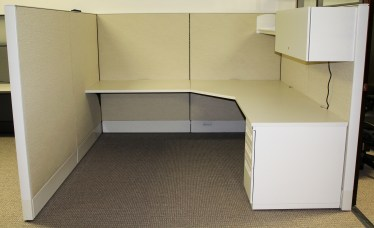 7.5'x8' Haworth Premise Enhanced Used Cubicles