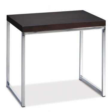 Black Chrome End Table by Space Seating