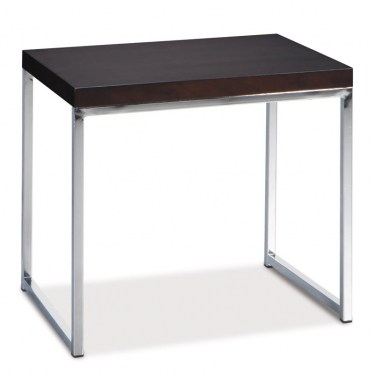 Espresso Chrome End Table  by Space Seating