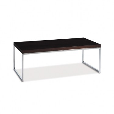Espresso Chrome Coffee Table  by Space Seating