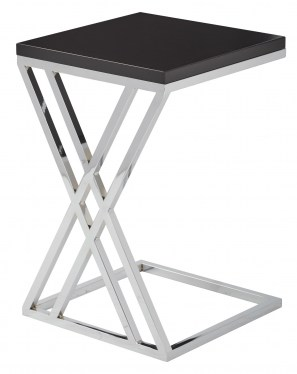 Black and Chrome End Table by Space Seating