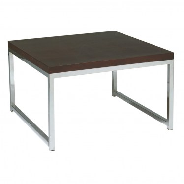 Espresso Chrome Corner Table by Space Seating