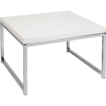 White Chrome Corner Table by Space Seating