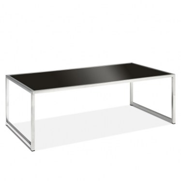 Black Glass/Chrome Coffee Table by Space Seating