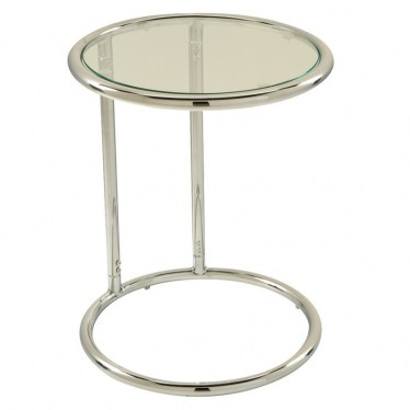 Glass Circle Table with Chrome Frame by Space Seating