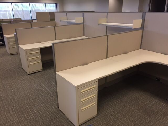 Used office furniture 8x8 haworth unigroup too used cubicles for 8x8 office design